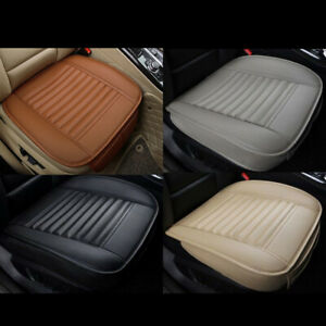 Edge Wrapping Car Front Seat Cushion Cover Pad Mat Auto Office Chair Pu Leather