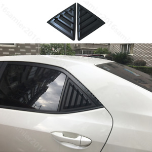 Fit For Toyota Corolla Sedan Rear Quarter Panel Window Side Louvers Vent Trim
