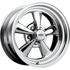 1 New 15x6 Cragar 61 S S Chrome Wheel Rim 03 5x4 50 5x4 75