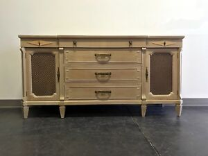 Mid 20th Century Sideboard Credenza By Thomasville 1959 With Pickled Finish