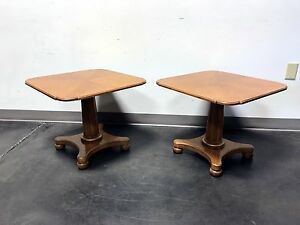 Henredon Mid Century Era Neoclassical Style Low Cocktail Tables