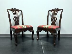 Hekman Marsala Oak French Country Dining Side Chairs Pair 1