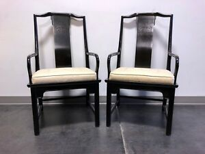 Century Chin Hua Raymond Sobota Asian Chinoiserie Dining Captain S Arm Chairs