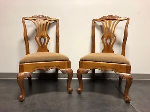 Hekman Marsala French Country Oak Dining Side Chairs Pair 1