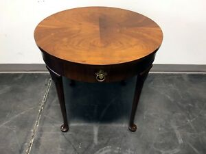 Baker Furniture Co Walnut Queen Anne Accent Side End Table