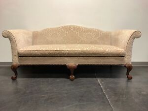 Hickory Chair Co Chippendale Carved Mahogany Ball In Claw Camel Back Sofa