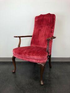 Vintage Southwood Mahogany Georgian Library Armchair Accent Chair
