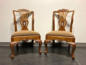 Hekman Marsala French Country Oak Dining Side Chairs Pair 2