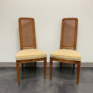 Henredon Artefacts Campaign Style Dining Side Chairs Pair 2