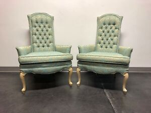 Vintage Mid 20th Century French Provincial Louis Xv Style Chairs Pair