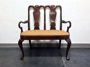 Hickory Chair Queen Anne Style Mahogany Bench Settee