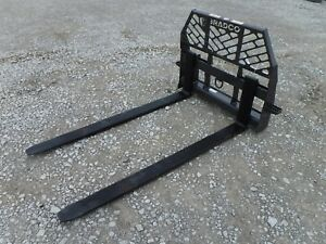 Bobcat Skid Steer Attachment Bradco 72 6 200 Pound Pallet Forks Ship 199