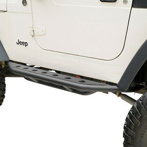 Eag 87 06 Jeep Yj Tj Wrangler Black Rocker Slider Nerf Step Side Armor Bar