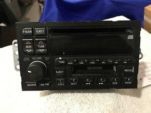 1996 97 98 99 2000 01 02 03 Gm Buick Chevy Amfm Cd Cassette Radio 16201134