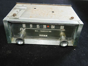 Vintage Used Titan Fm Converter Works For Both 12v 6v Systems