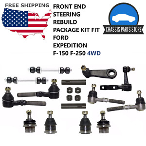 Front End Steering Rebuild Package Kit Fit Ford Expedition F 150 F 250 4wd