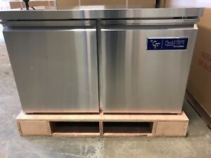 New Coolfront Double Two 2 Door Undercounter Stainless Refrigerator 12 Cu