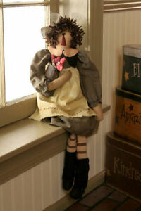 Primitive Decor Doll Rag Laura Sow Kindness Country Farmhouse