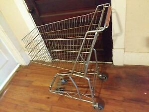 Antique Shopping Grocery Cart Industrial Design Vintage Wire Streamline Original