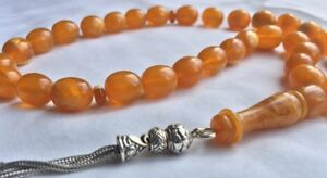 Antique Amber Kehribar Prayer Beads