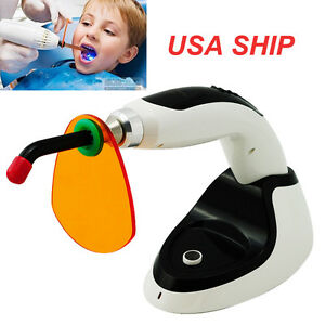 From Usa Wireless Cordless Led Dental Curing Light Lamp 1500mw Teeth Whitening