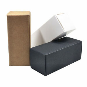 3 Colors Kraft Paper Box For Gift Perfume Essential Oil Cosmetics Cream Package