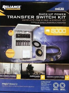 Reliance Back up Power 6 circuit Complete Transfer Switch Kit 306lr brand New