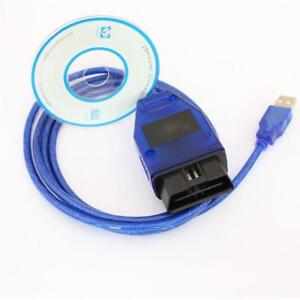 Usb Cable Kkl Vag Com 409 1 Obd2 Obdii Diagnostic Scanner For Vw Audi Seat Vcds