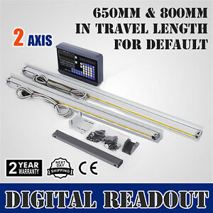 2 Axis 650 800mm Digital Readout Display Linear Scale Calculator Precision