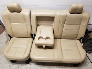 2008 2010 Ford Super Duty Lariat Rear Seat Tan Leather