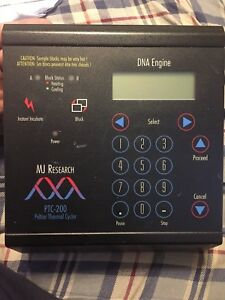 Mj Research Control Panel display For Ptc 200 Peltier Thermal Cycler
