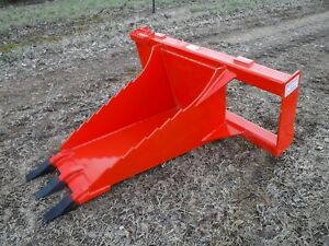 Kubota Skid Steer Tractor Attachment Stump Bucket Dig Spade W Teeth Free Ship