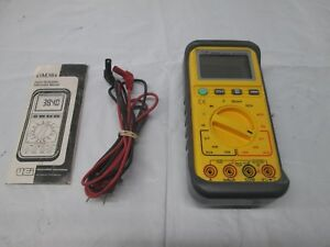 Uei Dm384 Digital Multimeter With Leads Tested Free Shipping