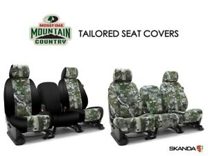 Skanda Mossy Oak Mountain Country Camo Front Seat Covers For Toyota Tacoma