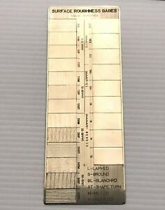 Surface Roughness Comparator Gage 22 Samples