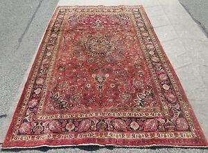 Antique Persian Oriental Room Size Rug Carpet 6 4 X 10 7 Great Buyold Rug