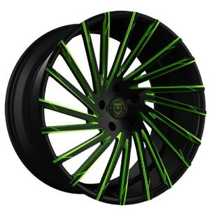4 pcs 24 Lexani Wheels Wraith Custom Color Rims Fs