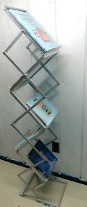 Portable Folding 5 Aesthetic Literature Stand Holds 5 Books Or Magazines