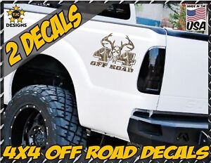 4x4 Offroad Decals Real Tree Camouflage Ford F150 Super Duty Deer Hunting Skull