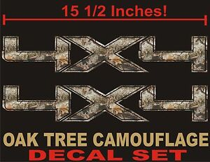 4x4 Truck Decals Real Tree Camouflage Set For Ford F150 And Super Duty Camo