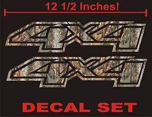 4x4 Truck Decals Real Tree Camouflage Set For Chevrolet Silverado Camo Chevy