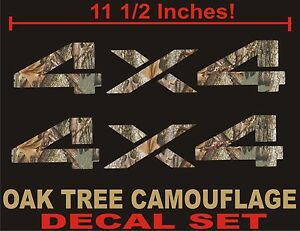 4x4 Truck Decals Set Real Tree Camouflage Camo Chevy Ford Dodge