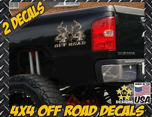 4x4 Offroad Decals Real Tree Camouflage Chevy Silverado Camo Deer Hunting Skull