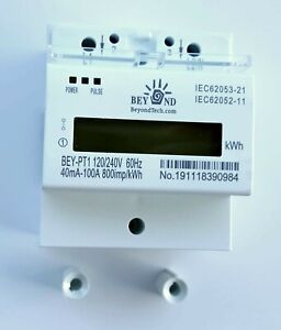 120 240v Electric Kwh Meter 50 60hz Up To 100amps Single Phase Din rail Type