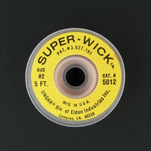 Desoldering Copper Braid Solder Remover Cleaner Wick 050 Inch Wide Yellow 5 Ft