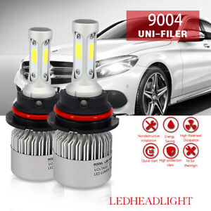 For 1999 2001 Dodge Ram 3500 2500 1500 2pcs Cob Led Headlight Bulbs Hi Lo Beam