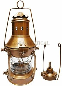 Antique Brass Oil Lamp Ship Lantern 13 Nautical Maritime Ship Lantern