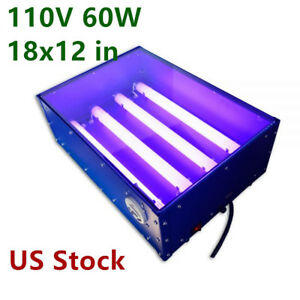 Us 110v 60w 18x12in Uv Exposure Unit Silk Screen Printing Plate Making Equipment