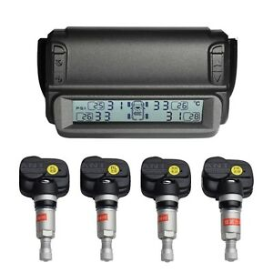 Deewaz Solar Powered Wireless Tpms Tire Pressure Monitoring System With 4