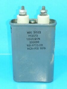 Hec 1uf 2000 Vdc Hermetically Sealed Oil Capacitor 1mfd 2000v Dc 2 000 Volts
